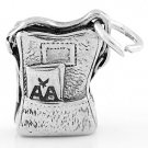 STERLING SILVER BACKPACK CHARM/PENDANT