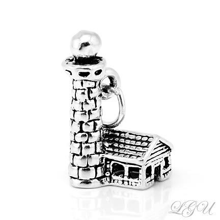 STERLING SILVER LIGHTHOUSE CHARM/PENDANT