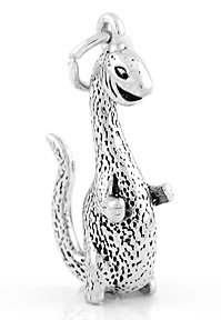 STERLING SILVER DINOSAUR CHARM/PENDANT