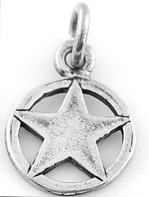 STERLING SILVER TEXAS LONE STAR CHARM/PENDANT