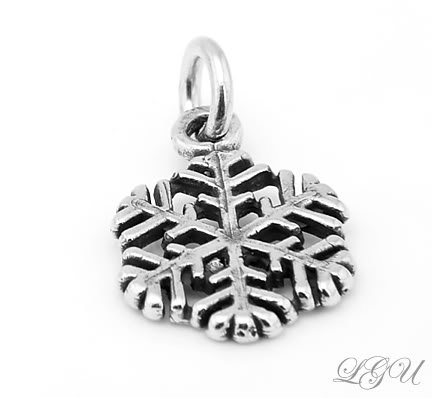 STERLING SILVER SNOWFLAKE CHARM/PENDANT