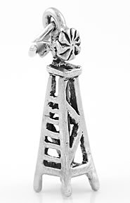 STERLING SILVER WIND MILL/PUMP CHARM/PENDANT