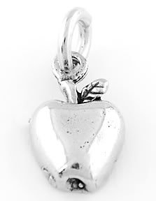 STERLING SILVER APPLE (ONE SIDED)CHARM/PENDANT