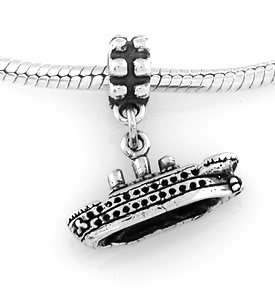 STERLING SILVER DANGLING CRUISE SHIP EUROPEAN BEAD