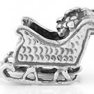 STERLING SILVER SANTA'S SLEIGH CHARM/PENDANT