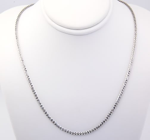 """STERLING SILVER 1.5MM ITALIAN MARGHERITA NECKLACE 18"""""""