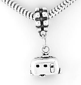 STERLING SILVER DANGLING RV RECREATION VEHICLE TRAVEL BEAD