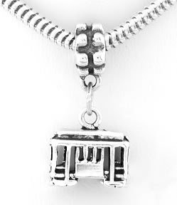 STERLING SILVER DANGLE 3D SAN FRANCISCO CABLE CAR TRAVEL BEAD