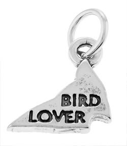 STERLING SILVER 925 BIRD LOVER CHARM/PENDANT