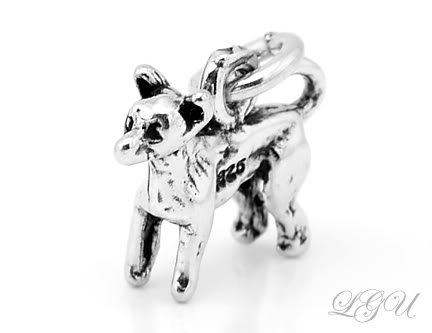 STERLING SILVER CHIHUAHUA 3D CHARM/PENDANT