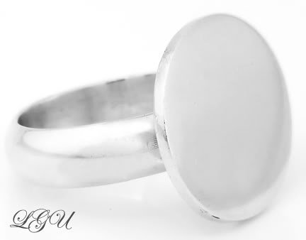STERLING SILVER ROUND FLAT RING SIZE 10