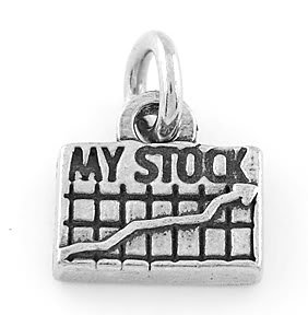 STERLING SILVER MY STOCK CHARM/PENDANT