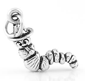 STERLING SILVER LITTLE CATERPILLAR CHARM/PENDANT