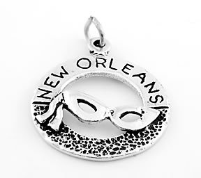 STERLING SILVER NEW ORLEANS MARDIS GRAS w/ MASK CHARM