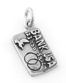 STERLING SILVER CREDIT CARD CHARM/PENDANT