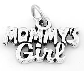 STERLING SILVER MOMMY'S GIRL CHARM/PENDANT