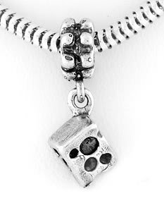 STERLING SILVER DANGLE SLICE OF CHEESE EUROPEAN BEAD