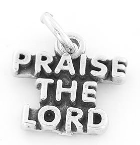 STERLING SILVER PRAISE THE LORD CHARM/PENDANT