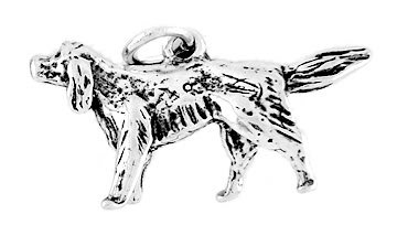 STERLING SILVER IRISH SETTER DOG CHARM/PENDANT