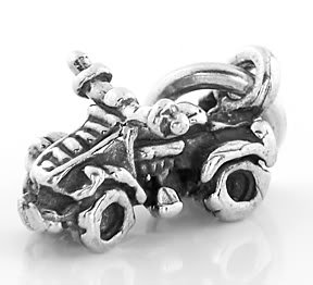 STERLING SILVER FOUR WHEELER CHARM/PENDANT