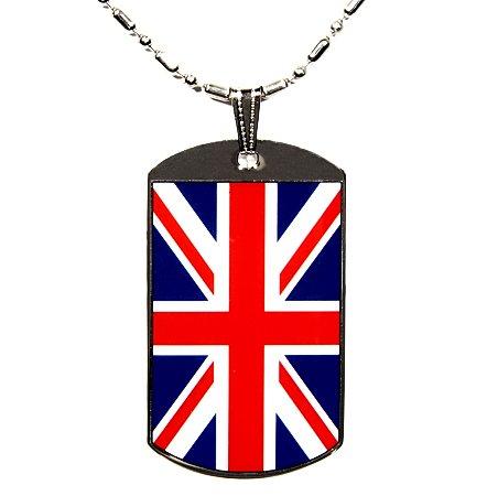 British Flag Polymer Glazed Color Dog Tag