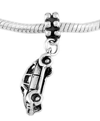 STERLING SILVER DANGLE CLASSIC BEETLE CAR EUROPEAN  BEAD