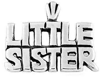 STERLING SILVER LITTLE SISTER CHARM/PENDANT
