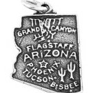 STERLING SILVER STATE OF ARIZONA CHARM/PENDANT