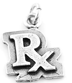 STERLING SILVER RX PHARMACIST CHARM/PENDANT