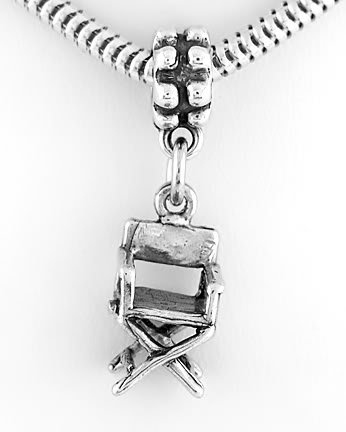 STERLING SILVER DANGLING DIRECTOR'S CHAIR EUROPEAN BEAD