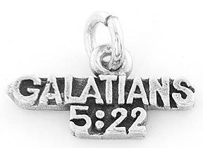 STERLING SILVER GALATIANS 5:22 CHARM/PENDANT