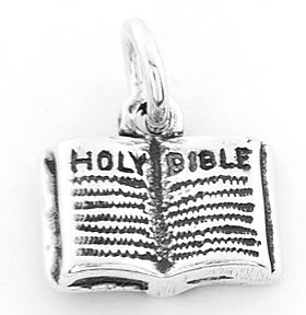 STERLING SILVER HOLY BIBLE CHARM/PENDANT