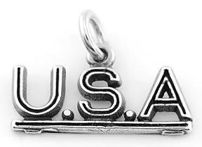 SILVER USA UNITED STATES OF AMERICA CHARM/PENDANT