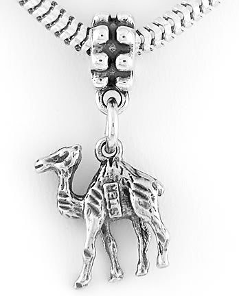 STERLING SILVER DANGLING CAMEL EUROPEAN BEAD