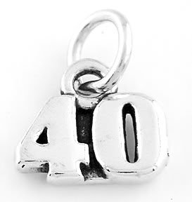 STERLING SILVER 40 YEARS CHARM/PENDANT