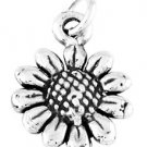 STERLING SILVER SMALL WILD SUNFLOWER CHARM/PENDANT