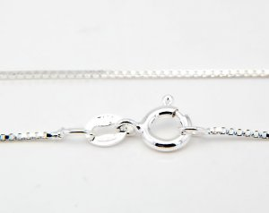 "1.5mm ITALIAN STERLING SILVER 20"" BOX CHAIN"