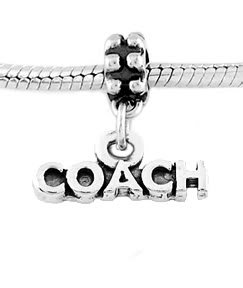 STERLING SILVER DANGLING WORD COACH EUROPEAN BEAD