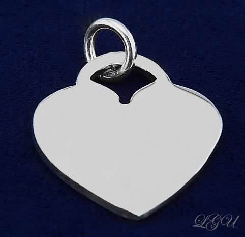 STERLING SILVER HEART PENDANT FREE FRONT SIDE ENGRAVING