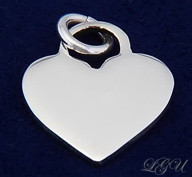 STERLING SILVER SM HEART PENDANT FREE FRONT SIDE ENGRAVING