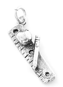 STERLING SILVER SCHOOL TOOLS CHARM/PENDANT