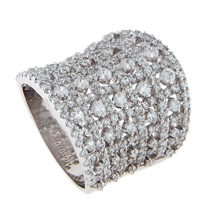 STERLING SILVER DOME / CIGAR SHAPE CZ BASKET STYLE BAND RING