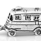 STERLING SILVER 3D MOTOR HOME CHARM/PENDANT