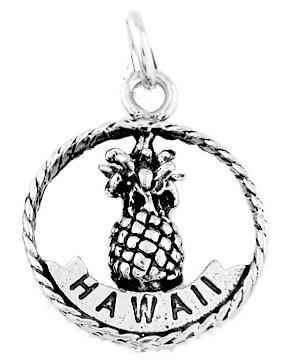 STERLING SILVER HAWAII ALOHA PINEAPPLE CHARM/PENDANT
