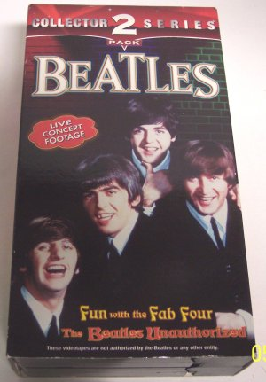 Beatles-2 Pack VHS Fun With The Fab Four  Collector Series