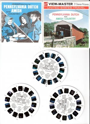 Gaf ViewMaster Pennsylvania and Amish Country A633 - 3 Reel Pack Stereo Pictures