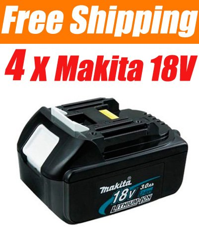 4 Pieces � Makita BL1830 18V 3.0 Ah 18Volt Li-Ion Battery Pack - USD 165.00 Free Shipping!