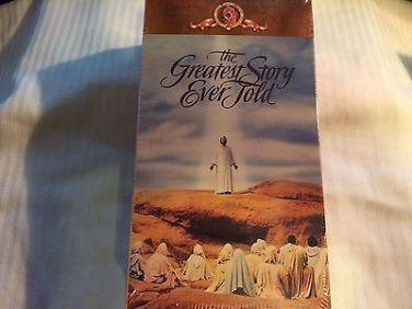The Greatest Story Ever Told  2 VHS Video Part One & Two  Brand New Sealed Video!