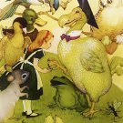 Alice in Wonderland, Vintage Print, Alice and the Dodo Bird