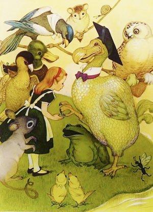 Alice in Wonderland, Vintage Print, Alice and the Dodo Bird